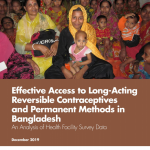 Effective Access to  Long-Acting Reversible Contraceptives and Permanent Methods in Bangladesh: An Analysis of Health Facility Survey Data